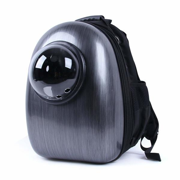 Blitzwolf cat backpack with ventilation holes in the bubble window.