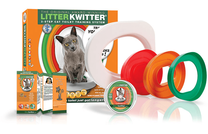 litter-kwitter cat system comes with three rings.