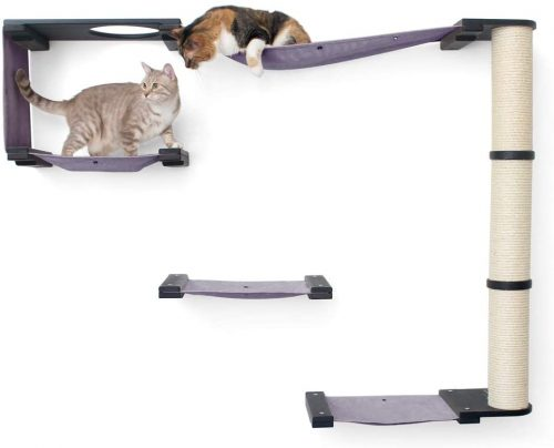Two cats are using CatastrophiCreations Climb activity center
