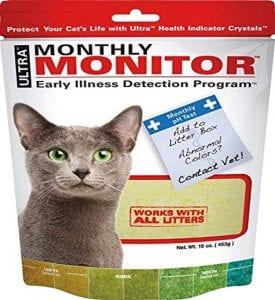 Ultra cat litter to check cat health