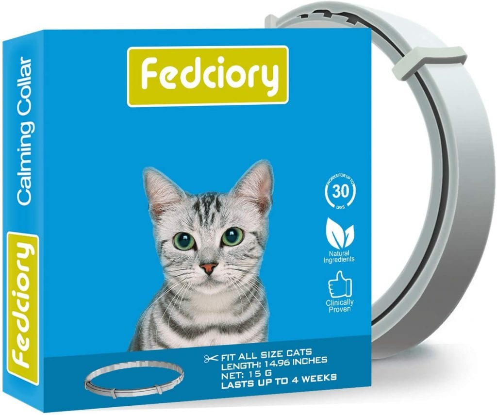 The Fedciory box featuring a cat and calming collar