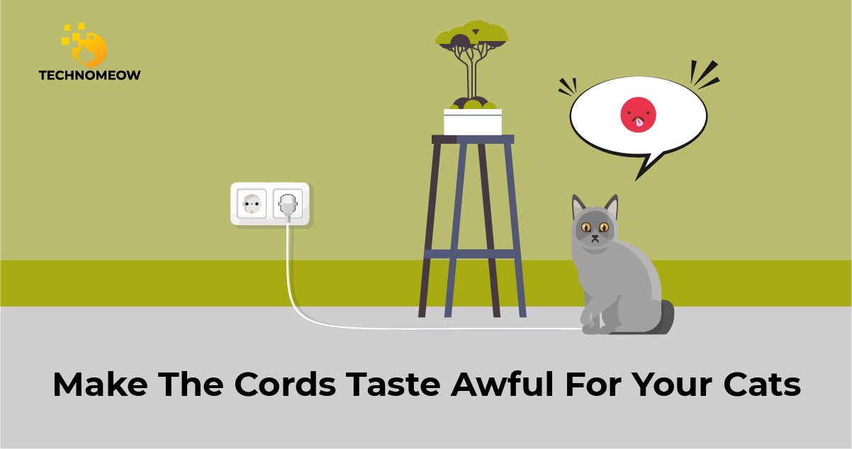 Make electrical cords taste awful for cats